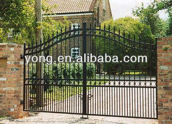 black powder coated wrought iron main gate buy antique