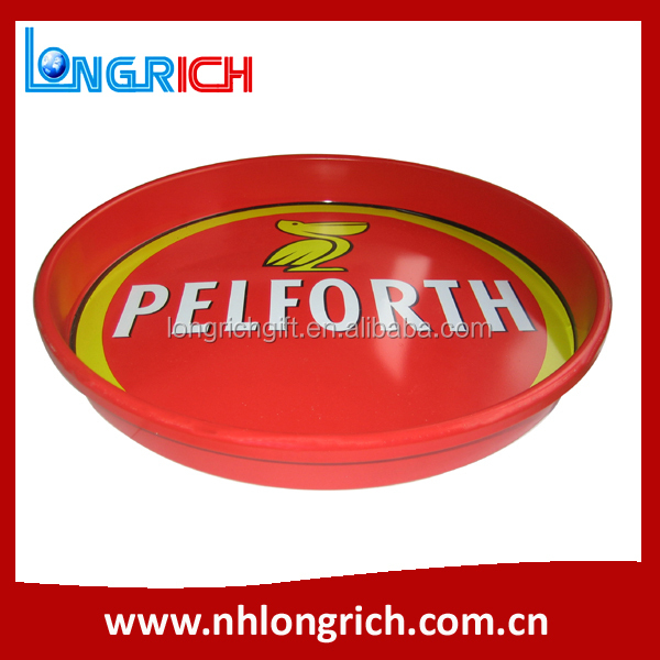 Wholesale Unique High Quality Bar Tray / CMYK Printing Round Metal Tray