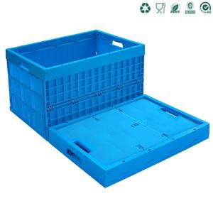 straight wall heavy duty plastic stackable collapsible folding crate container crates with solid bottom