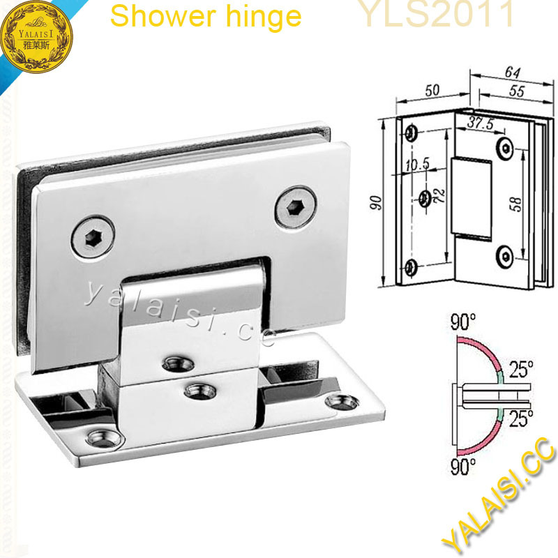 Chrome plate 90 degree size 35x21 glass door to wall 304ss chrome plate 90 degree size 35x21 glass door to wall 304ss flat side frameless bathroom shower hinges view shower hinge yalaisi product details from planetlyrics Images
