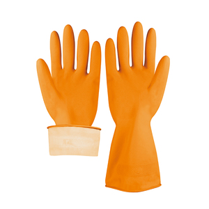 s sun yellow latex coated industrial safety work s rubber glove gauntlet