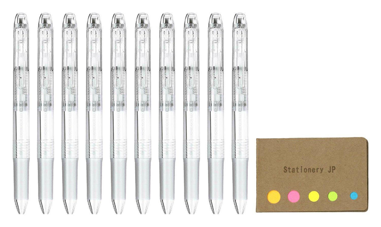 Pilot Hi-tec-c Coleto 3 Color Multi Pen Body Component, Clear, Rubber grip, 10-pack, Sticky Notes Value Set