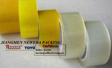 Yellowish and White Transparent Color Carton Tape