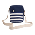 2018 Navy blue lightweight portable canvas shoulder bag messager bag