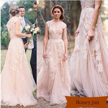 Lace Wedding Dresses Champagne