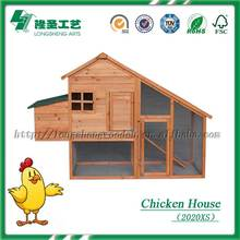 Cheap wooden duplex animal house chicken coop poultry cage with grid mesh