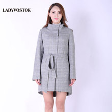 LADYVOSTOK Cashmere Demi-stagione cappotto Di Lana delle Donne di stile  Europeo giacca moda Primavera 9edd8b48674