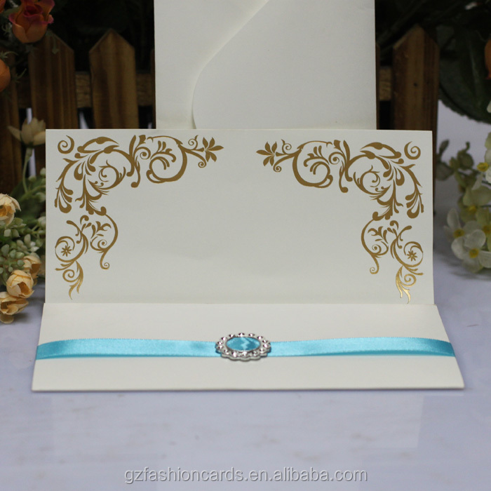 2014 White Luxury Wedding Invitation Cards Models With Ribbon And Buckle