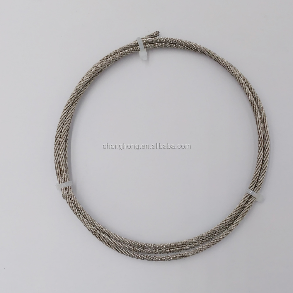 6x7+FC / 7x7 A2 A4 Inox Cable AISI316T AISI304 / SUS316 SUS304 Stainless Steel Wire Rope Cable