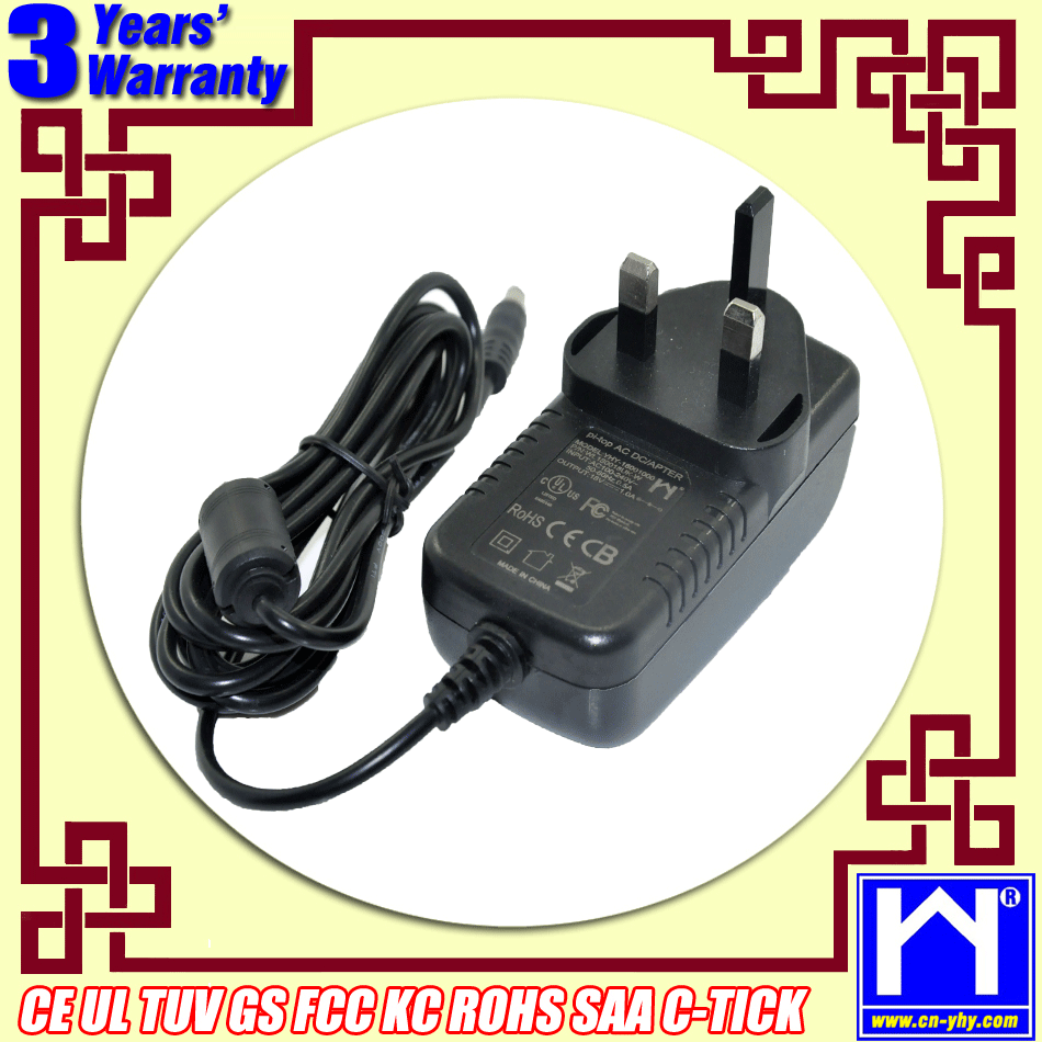 ac adapter round pin ac-dc power adapter 15V 2A with dc pin 3.5*1.35