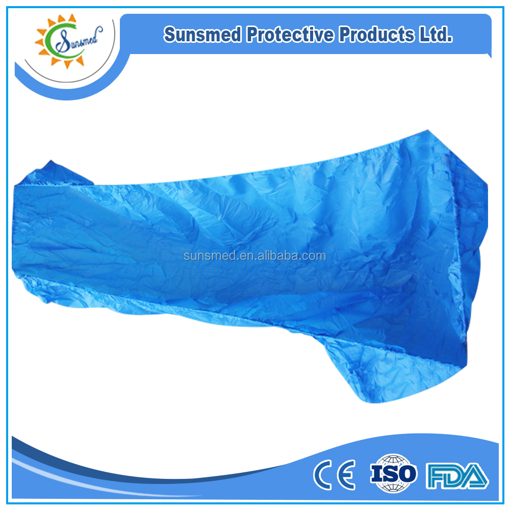high quality disposable medical CPE bed cover CPE mattress cover