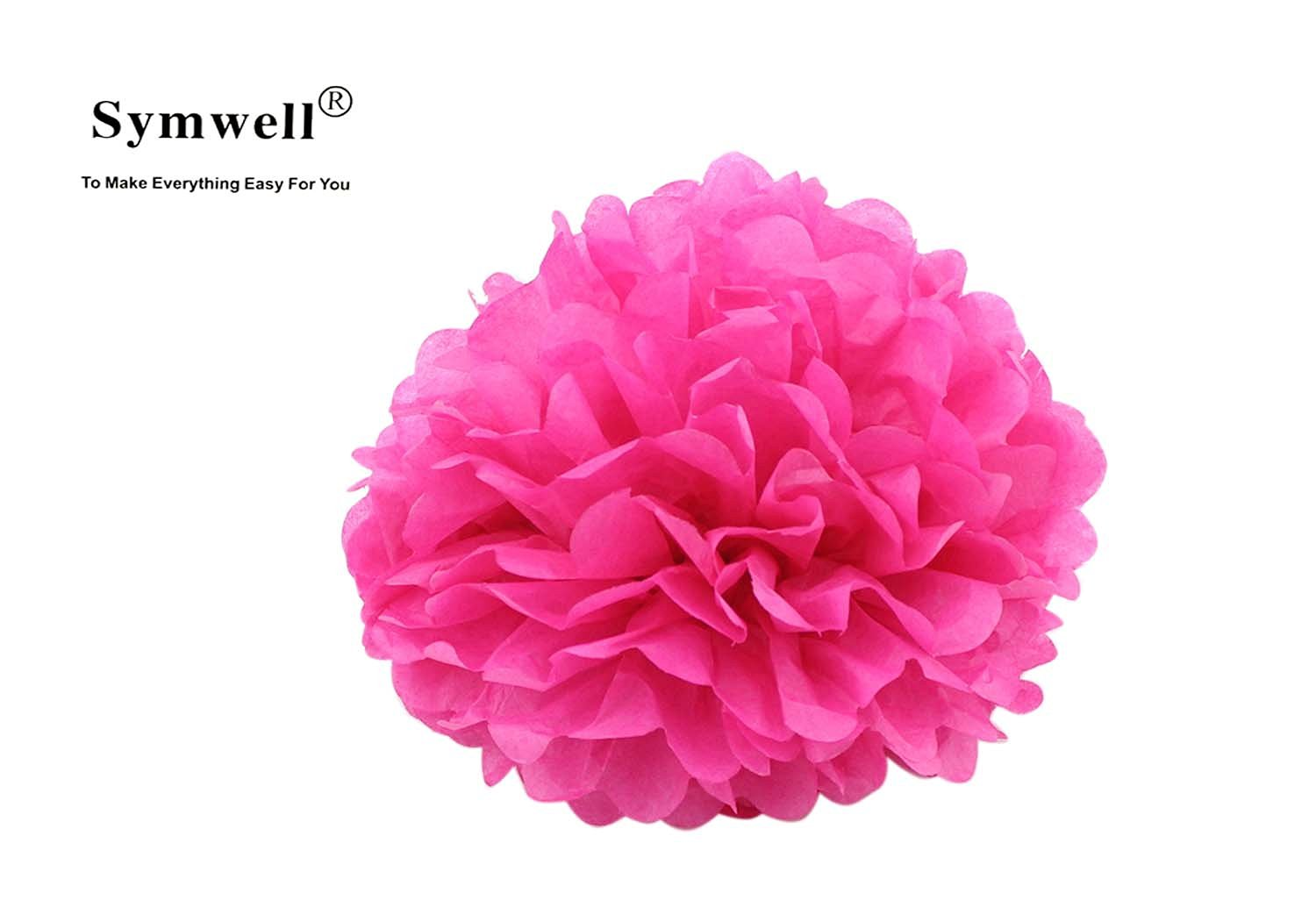 Buy Symwell 18 Pcs Party Tissue Paper Flowers Pom Poms Flowers Of