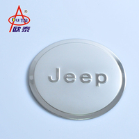 Chrome Accessories Fuel Filler Door Cover Gas Tank Cap For Jeep