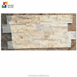 white quartz slate tile stone veneer exterior decorative wall panels