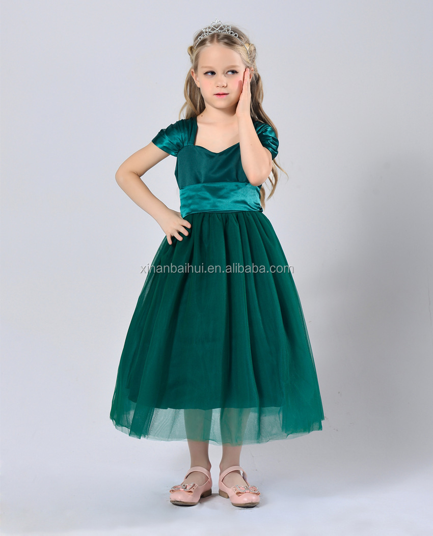 Beautiful Girls Princess Tutu Dress White Girl Gown With Belt Kids ...