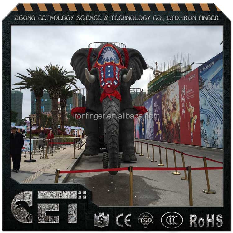 CET-A-754 animal elephant statue lifelike aniamtronic animal model for business opening
