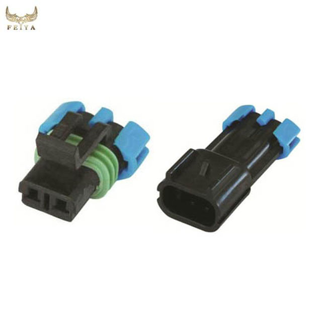 Hot selling delphi male female 2pin waterproof automotive wire connector set