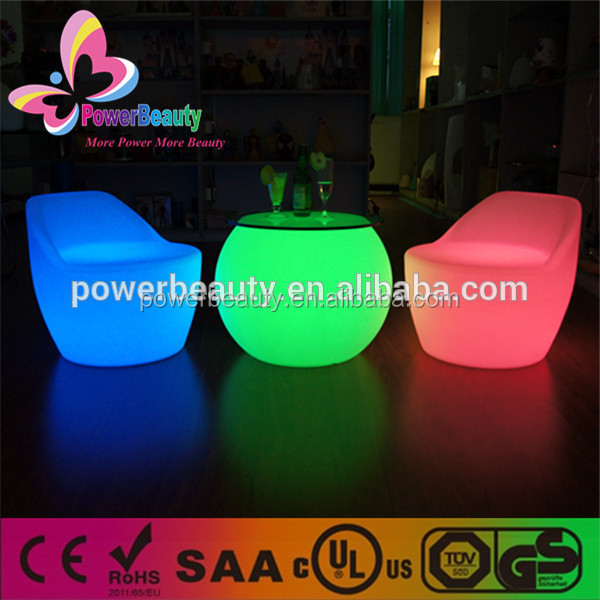 Latset Design Light Up Chair/plastic Patio Furniture/led Sofa Chair,led  Lighted