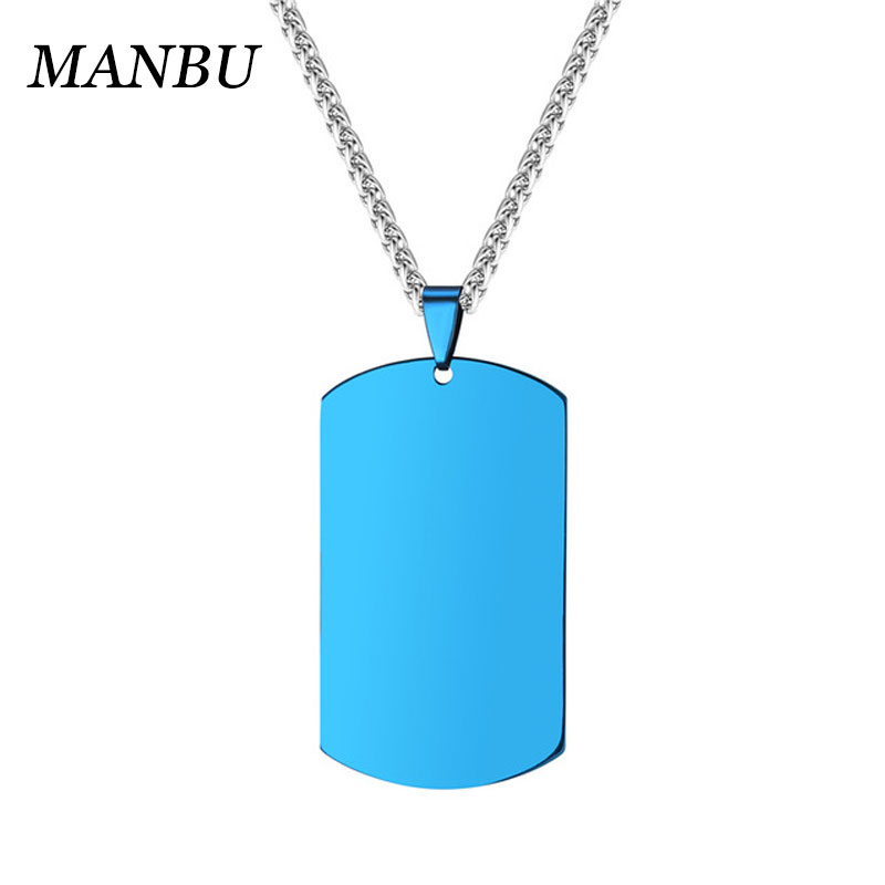 bijouterie stainless steel wholesale dogtag pendants for jewelry making personalized name necklace 18k gold plated 12809