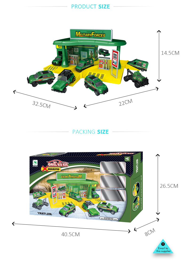boys play metal military parking garage toys set with mark