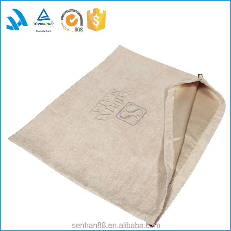 Suede Senhan promotional packing bag drawstring bag dust bags
