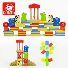 top bright baby education wooden domino toy manufacturer with EN71 BSCI
