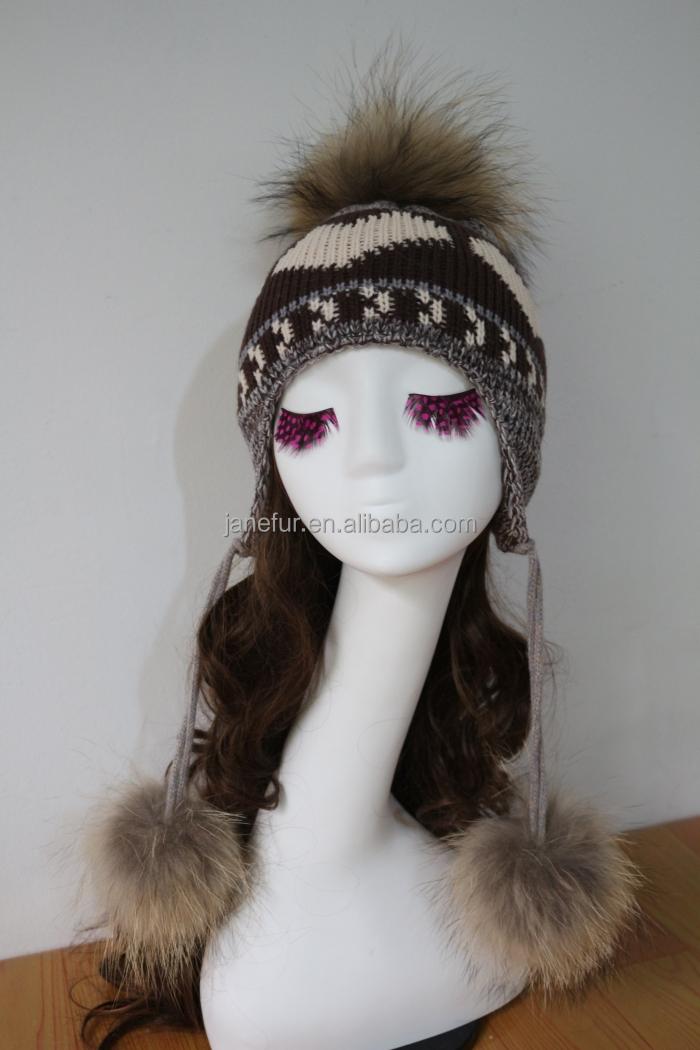Invierno Oreja Sombreros Divertidos Knit Invierno Esquí Sombreros ...