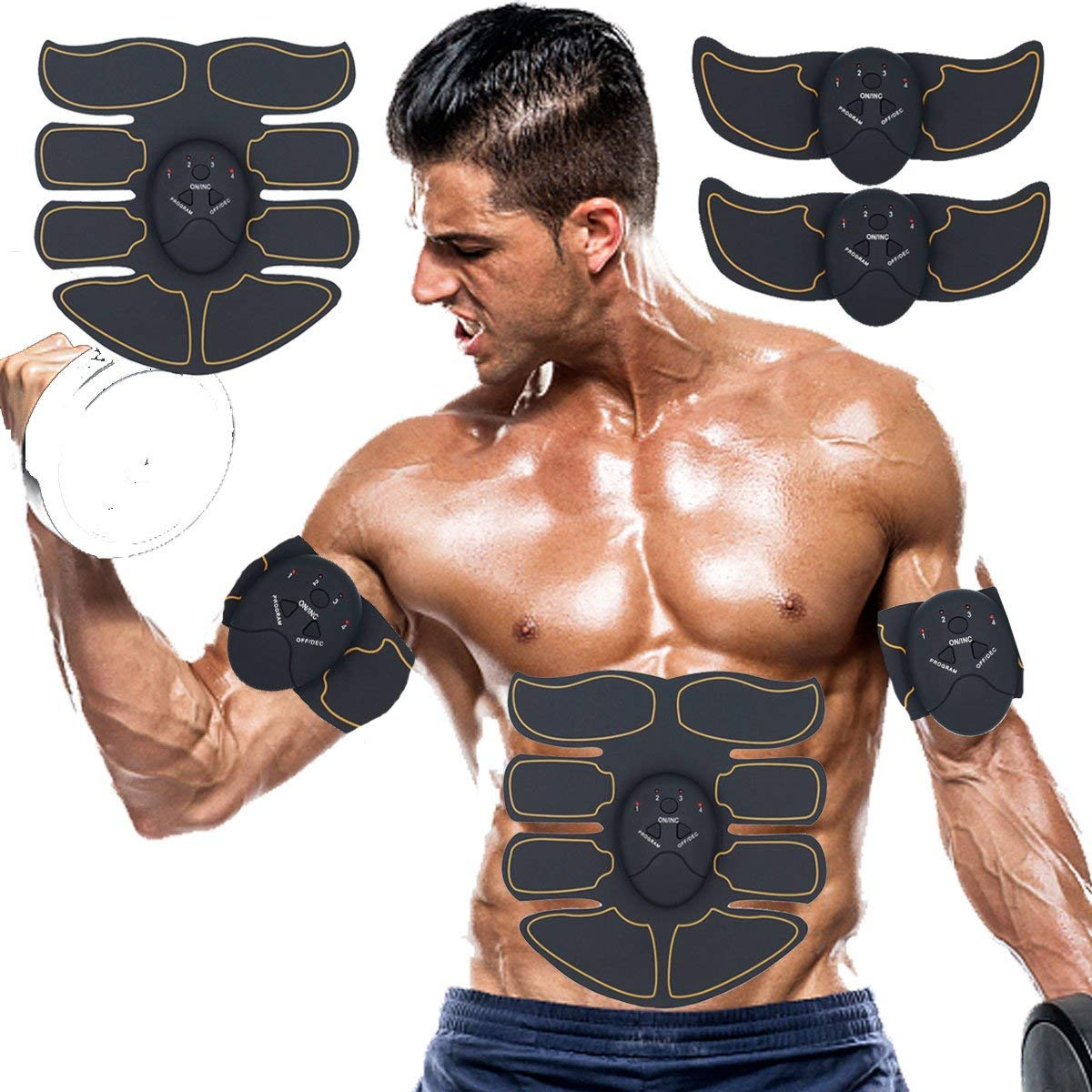 SPORTMAO Abs Stimulator Muscle Trainer Ultimate Abs Stimulator Ab Stimulator for Men Women Abdominal Work Out Ads Power Fitness Abs Muscle Training Gear Workout Equipment Portable Stimulator Abs Belt