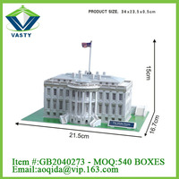 famous world architecture white house 3d puzzle game diy toy