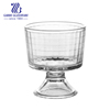 Super high quality glass trifle bowl for mix case
