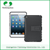 Smart cover 8 colors PC+TPU hybrid combo heavy duty holster kickstand shockproof case cover for ipad mini 4