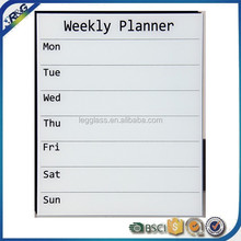 white glass weekly planner writing board for kids