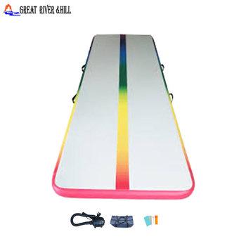 New Style Rainbow Air Track Gymnastics Inflatable Airtrack