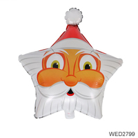 Christmas Decoration Atmosphere Layout Five-pointed Santa Claus Modeling Helium Balloon