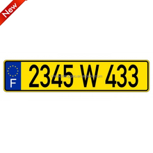 European Blank Embossing Aluminum Number Plates or License Plates