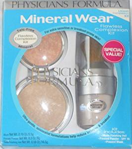 Physicians Formula Mineral Wear Flawless Complexion Kit, Light, Veil- 0.58-Ounce