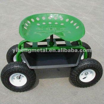 Tractor Style Garden Seat Cart On Wheels TC4501B