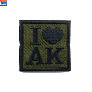 Custom Patches Embroidery,Patches Embroidery I LOVE AK