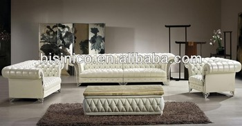 Bisini Luxury Modern Sofa Set|solid Wood,Genuine Leather Living Room ...