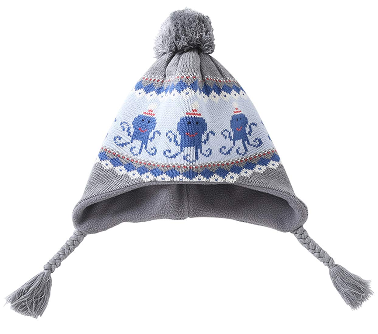Magracy Baby Toddler Boys Winter Earflap Beanie Kids Cute Knit Hats with Flaps