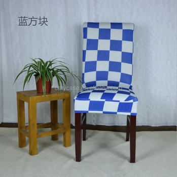 Surprising Blue Lattic Printed Stretch Chair Cover Half Chair Cap Office Computer Elastic Spandex Chair Cover Hotel Universal Chair Wear Buy Women Nipple Bralicious Painted Fabric Chair Ideas Braliciousco