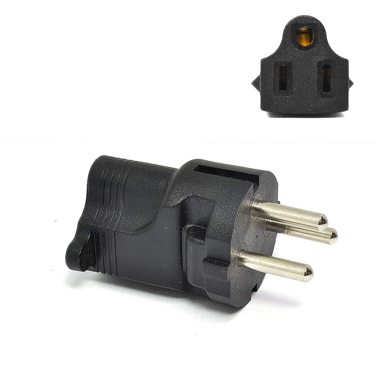 3PCS EU To US USA 110v Socket AC Power Plug Adapter Outlet Travel Converter js