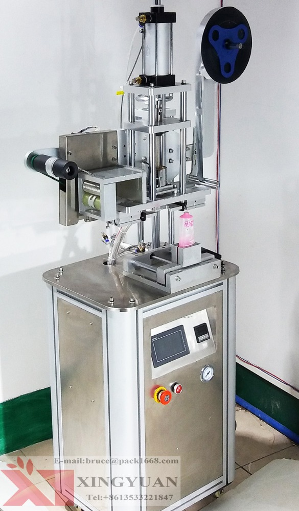 Semi automatic Plastic tube sealing machine/Sealer for small edge with lid