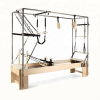 Wood Pilates Reformer Cadillac Machine with Full Trapeze Combination Used in Pilates Studio Combo Cadillac Reformer SRP07
