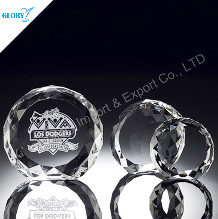 Logo and Words Engraved Crystal Academy Award
