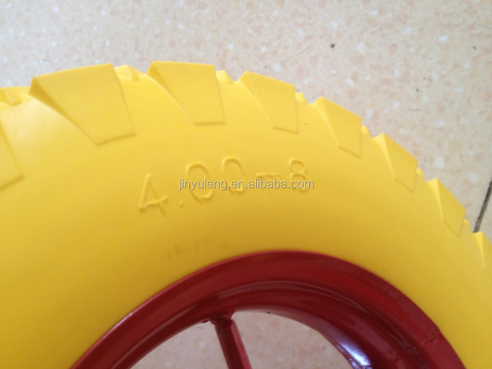 400-8 cheap spoke style wheel barrow wheel PU wheel for seal