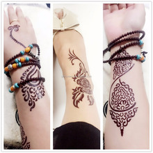 Custom Special Brown Henna Indian Body Tattoo Stickers Ink