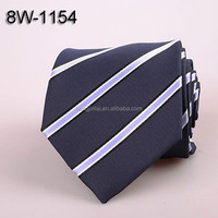 Fashion blue and purple stripe Micro fiber necktie Polyester woven neck ties 8W1154