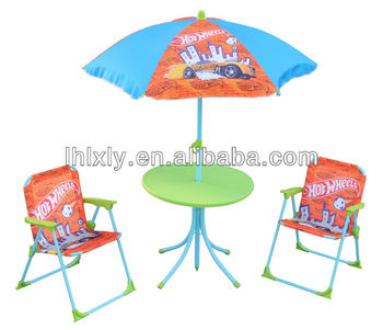 Hot Wheels Kids Patio Set Outdoor Furniture Table And Chairs