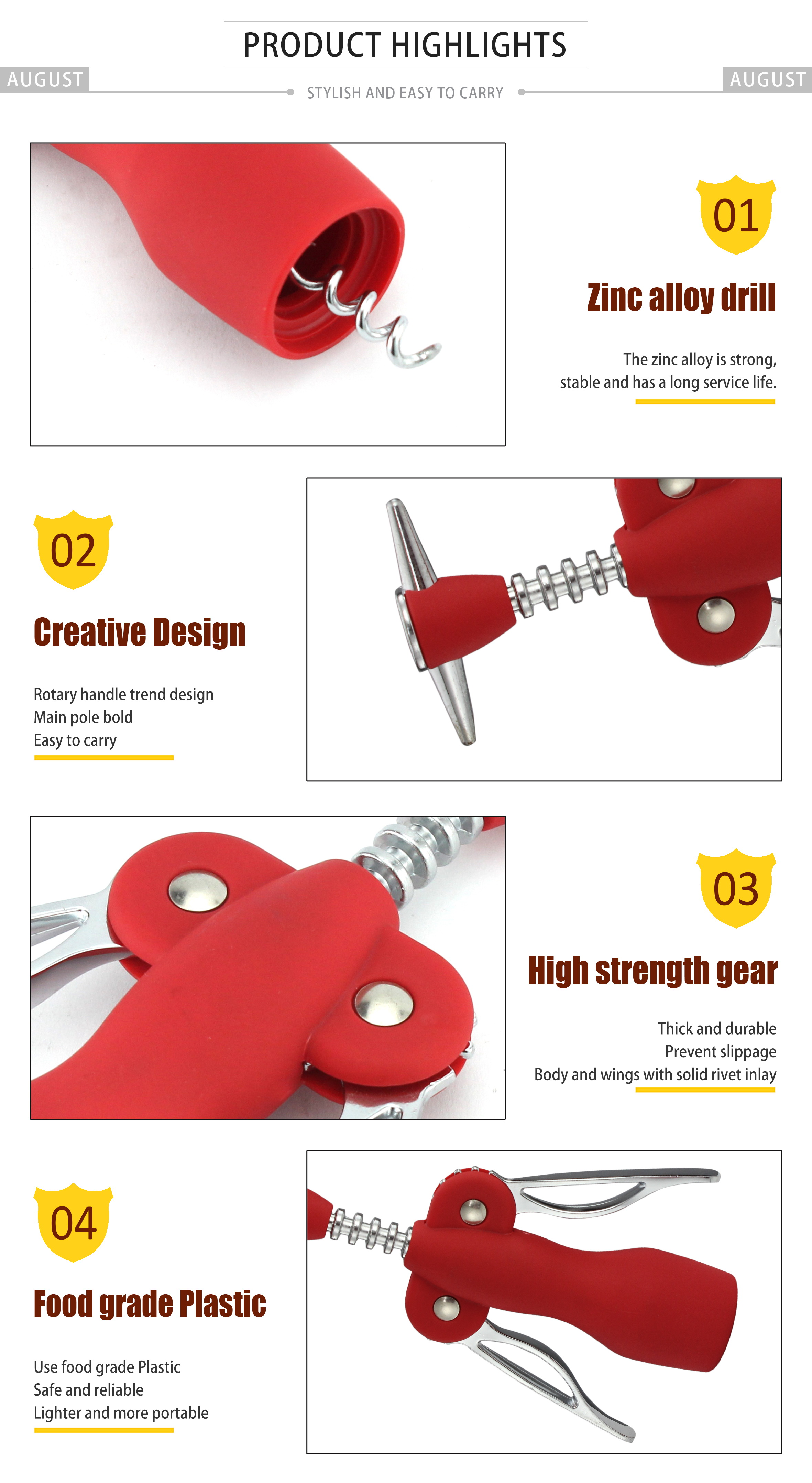 custom simple cheap classic Personalized cute Funny wine corkscrew opener